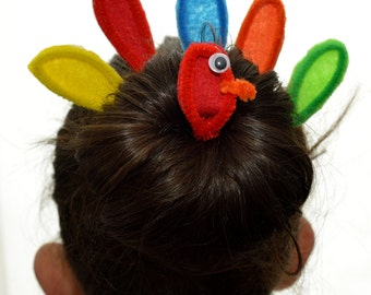 Turkey Hair Bun Kit (Thanksgiving Full Colour)