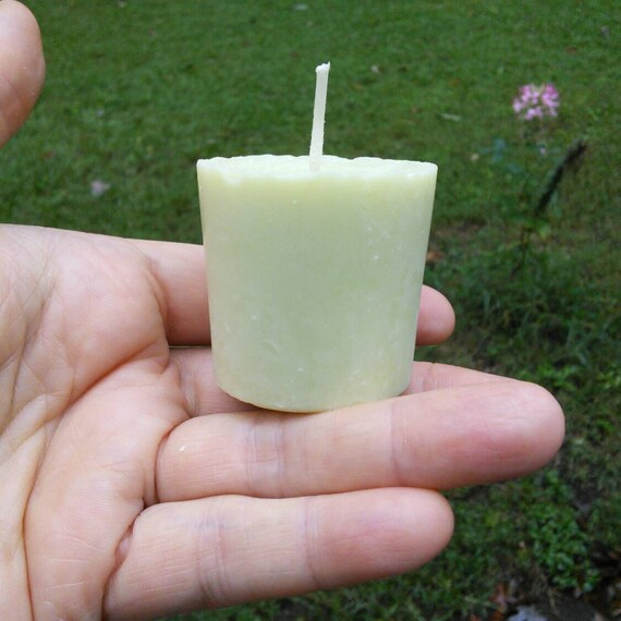 Green Tea Lemongrass Votive Soy Candles