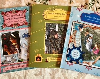 Three Catholic Hearth Stories! Joseph and the Bow Shoot, Two Tea Parties, Brendan the Seafarer! Free Us Shipping!