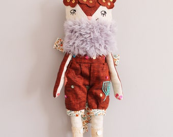 Poupée chiffon, raffinée, décoration chambre bébé, Poupée tissu, cadeau anniversaire, décoration murale, cadeau naissance, maison,bébé