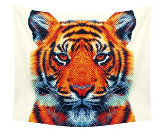Tiger Tapestry - Colorful Animals