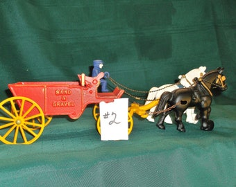 Rare Vintage Stanley Horse Drawn Sand/Gravel Wagon