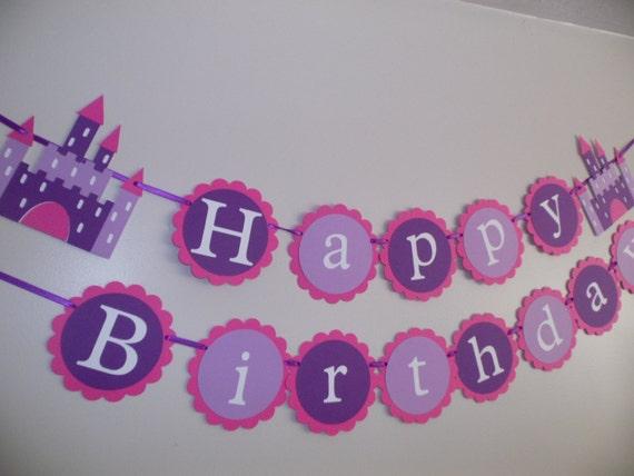 purple birthday banners