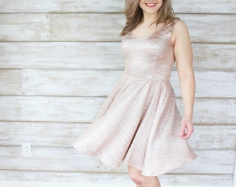 Rose Gold Party Dress, Rose Gold Dress, Party Dresses, Womens Dresses, Shiny Dresses, Gold Dresses, Tank Dresses, Dresses for Women