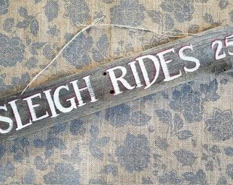 Sleigh Rides 25c sign