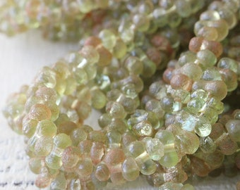 Farfalle Beads - Peanut Beads Frosted Glass Beads For Jewelry Making - Czech Glass Beads - 150 beads