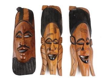 Senegalese Mahogany Mask Home Decor Housewarming Gift African Mask Home Decor Wall Art Wall Decor Handmade Mask African Wall Art