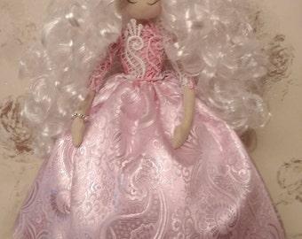 Textile doll Handmade doll Fabric doll Tilda doll Soft doll Cloth doll Collectible doll Rag doll Interior doll by HandmadeRU