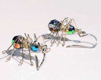 Spider Earrings Tutorial_PDF_Crystal Spiders_Wirework_Halloween Earrings_Small Business Use