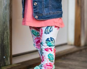 Pixel Rose Leggings for Baby, Toddler, or Girls
