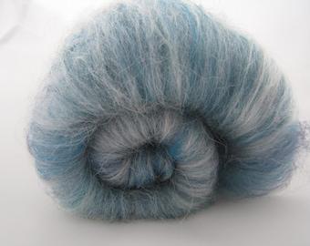 Baby Alpaca, Merino Silk Batts 100g Ocean / Blue Extra Soft Spinning Fiber