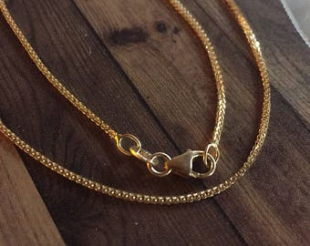 18kt gold chain tail woman gold necklace