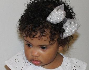 Pearls and Onyx Headband