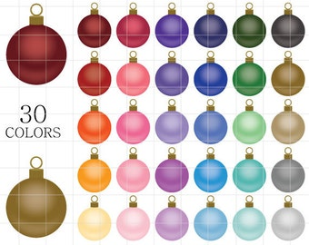 Christmas Ornaments Clipart Matte Tinsel