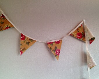 Floral Bunting Flags