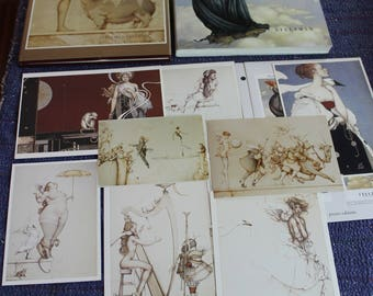 Artist's Mixed Media Destash of Antique Thangkas, Michael Parkes Books, Various Paper Stock & Construction Paper