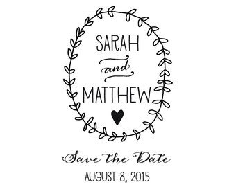 Lovely and Sweet Save the Date stamp