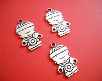 Boy Charms Silver Charms Kid Charms Silver Kid Charms Child Charms 3 pieces CLEARANCE was 2.00