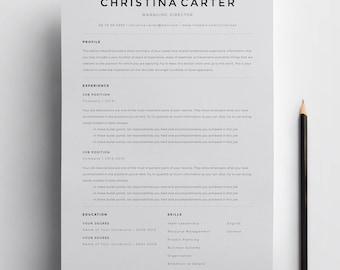Beau Creative Resume Template, Minimalist Resume, Resume, Modern Resume, CV  Template, CV