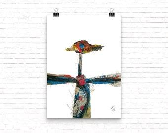 Bird (collage)