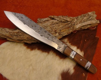 Viking Knife with leather/brass scabbard hand forged 1095 steel (g)
