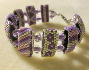 Carrier bead bracelet / Beaded Carrier Bead Bracelet / Seed Bead Bracelet / Handmade Bracelet