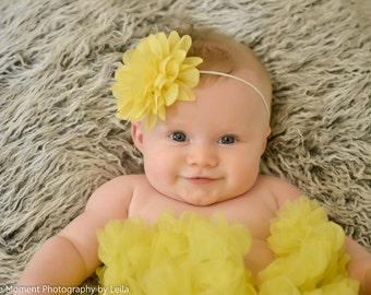Baby Headband, Yellow Easter Headband, newborn toddler headband, baby hair bow, baby infant headbands, newborn photo prop, baby accessories
