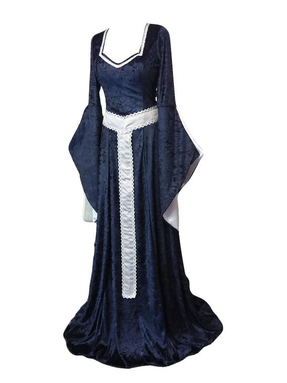 medieval dress renaissance dress with girdle belt Gothic