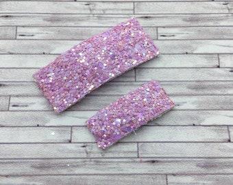 Orchid Shimmer Glitter Snap Hair Clips /  Glitter Mini Snap Hair Clips / Snap Clips / Summer Snap Clip