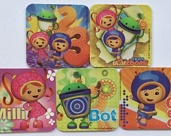 Team Umizoomi Refrigerator Magnets, Birthday Party Favors, 5 Nickelodeon Nick Jr. Fridge Magnet