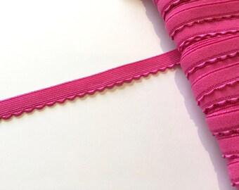 Bright Pink Knicker/Lingerie Elastic - 2 m / 10 mm - 11 mm - Lingerie Elastics