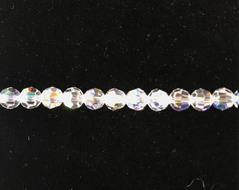 5000 Swarovski® 8mm Round - Crystal AB - 6 pieces