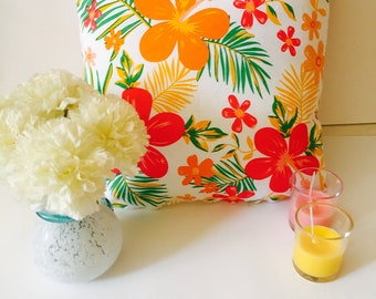 Floral decorative pillow