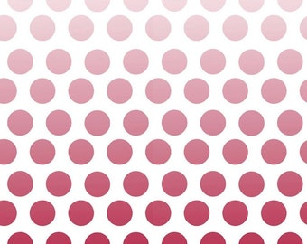 SALE Riley Blake Red Ombre Dot