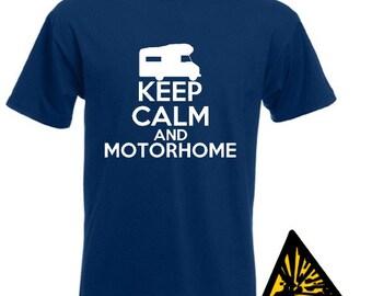 Keep Calm And Motorhome T-Shirt Joke Funny Tshirt Tee Shirt Gift