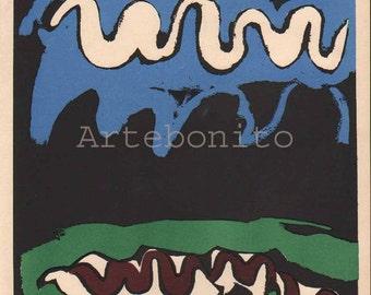 "Francisco Bores Lithograph ""Earth"" Verve printed 1937  -f"
