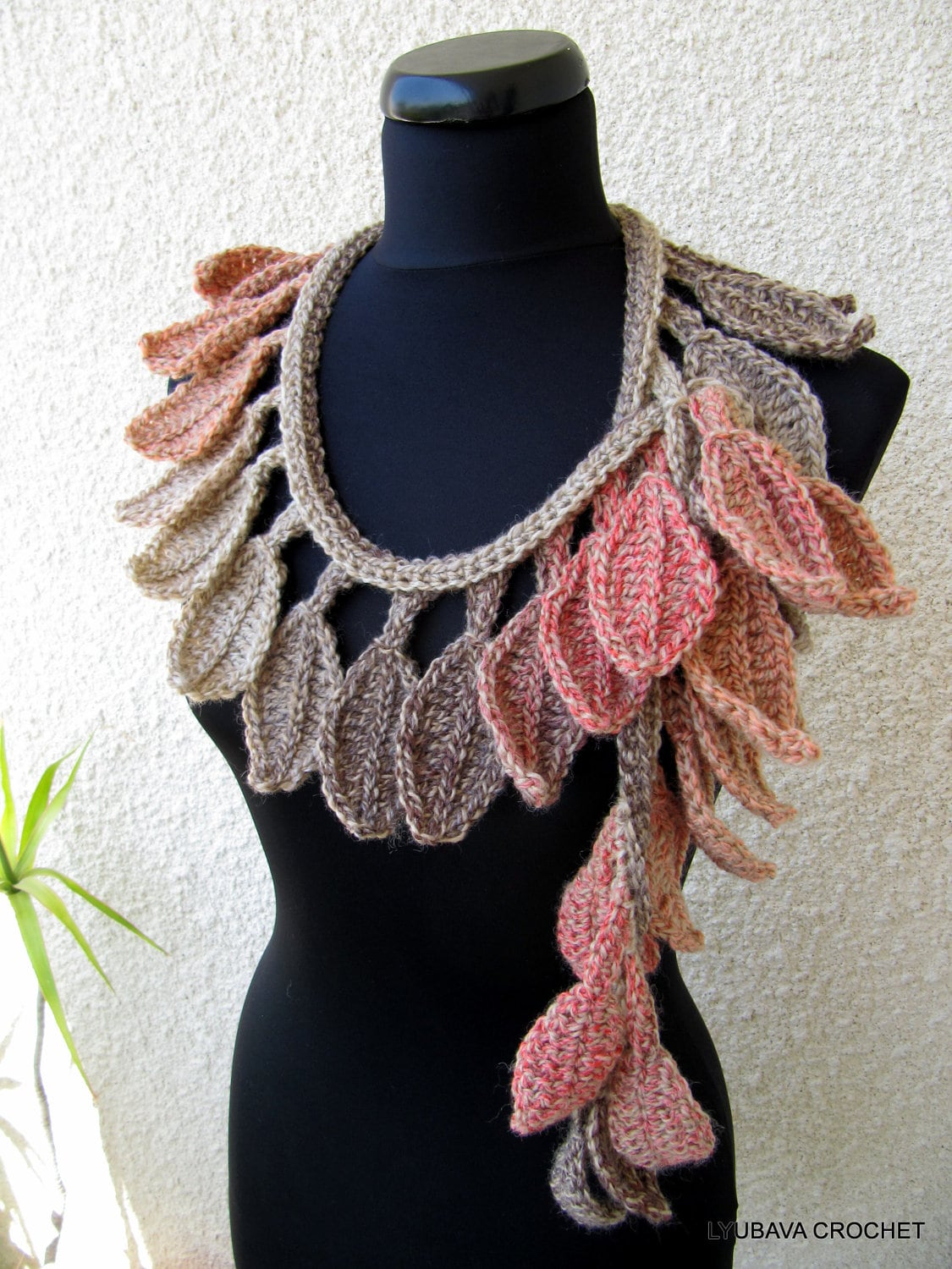 Crochet pattern autumn scarf autumn leaves fall diy scarf zoom baditri Images