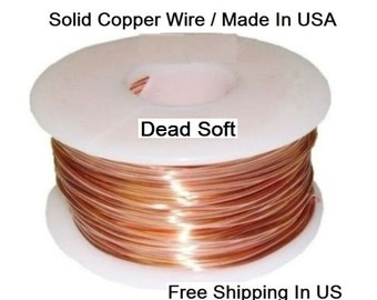 Copper Wire  99.9%  (Dead SOFT) Jewelry Grade / For Jewelry Making ,Hobby, craft / See Variations
