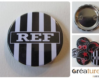 Ref roller derby referee-referee 38mm badge