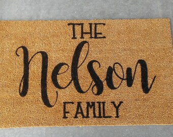 Custom Personalized Doormat, welcome mat, front entryway, front door, personalized mat, custom doormat, housewarming gift, realtor gift