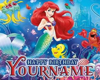 Little Mermaid Birthday Banner (castle)