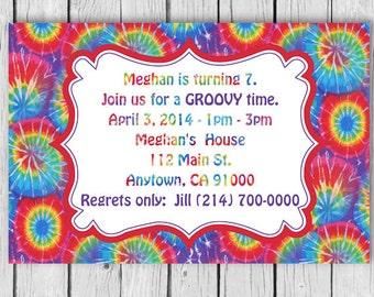 hippie Birthday Invitation, hippie Invitation, hippie Birthday,Invitation, hippie invitations, hippie party invites, hippie birthday