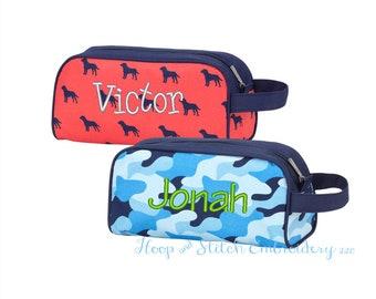 Travel Bag or Pencil Case, Pencil Case, Monogram Travel Bag, Cool Camo Pencil Case, Cool Camo Travel Bag, Dogs Pencil Case, Dogs Travel Bag