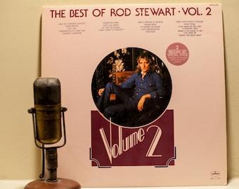 "Rod Stewart Vinyl Record Album 1970s Classic Rock and Roll Scottish Pub Pop Ballads LP,""Best Of Rod Stewart Vol. 2"" (Orig.1976 2LP set)"