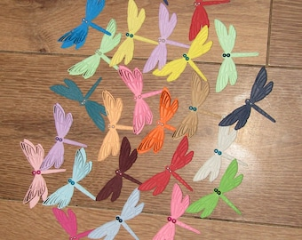 Dragonfly Die cut Embellishments x 10 - Cardmaking, Papercraft, Table Decor