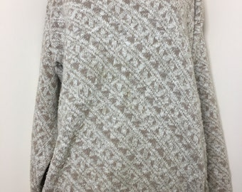 Vintage, Cream, Oversized, Lord Jeff Sweater Size M
