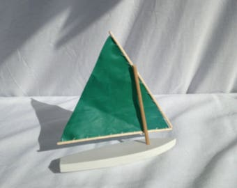 Model Sunfish with Real Sunfish Sail!