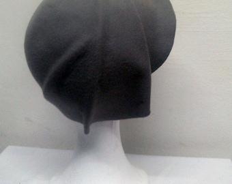 Cloché hat, 20s hat, 20s style hat, Felt hat, Wool hat, Vintage hat, Retro hat, Winter hat, By size hat, handmade hat
