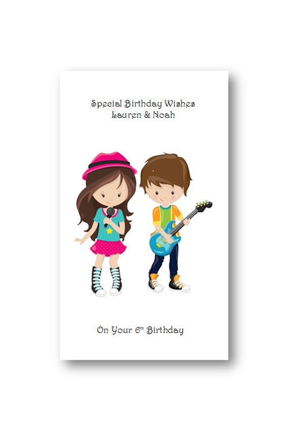 Personalised Twins Birthday Card Personalized Twins