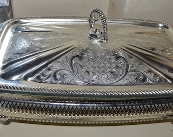 Mayell Mayell Queen Anne silver plate server Mayelle Silver plated ware pyrex dish Queen Anne & Mayell | Etsy